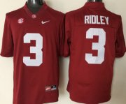 Wholesale Cheap Men's Alabama Crimson Tide #3 Calvin Ridley Red College Football Nike Jersey