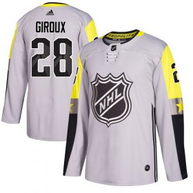 Wholesale Cheap Adidas Flyers #28 Claude Giroux Gray 2018 All-Star Metro Division Authentic Stitched Youth NHL Jersey