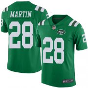 Wholesale Cheap Nike Jets #28 Curtis Martin Green Youth Stitched NFL Limited Rush Jersey