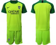 Wholesale Cheap Boca Juniors Blank Green Goalkeeper Soccer Club Jersey