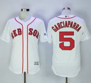 Wholesale Cheap Red Sox #5 Nomar Garciaparra White Flexbase Authentic Collection Stitched MLB Jersey
