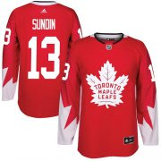 Wholesale Cheap Adidas Maple Leafs #13 Mats Sundin Red Team Canada Authentic Stitched Youth NHL Jersey