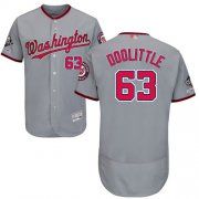 Wholesale Cheap Nationals #63 Sean Doolittle Grey Flexbase Authentic Collection 2019 World Series Champions Stitched MLB Jersey
