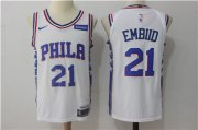 Wholesale Cheap Men's Philadelphia 76ers #21 Joel Embiid White Nike Stitched NBA Jersey