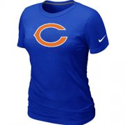 Wholesale Cheap Women's Nike Chicago Bears Logo NFL T-Shirt Blue