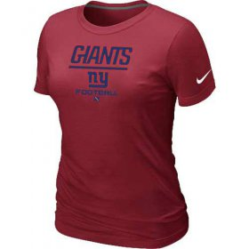 Wholesale Cheap Women\'s Nike New York Giants Critical Victory NFL T-Shirt Red