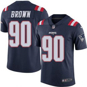 Wholesale Cheap Nike Patriots #90 Malcom Brown Navy Blue Youth Stitched NFL Limited Rush Jersey