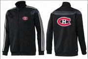 Wholesale Cheap NHL Montreal Canadiens Zip Jackets Black-3