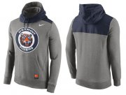 Wholesale Cheap Men's Detroit Tigers Nike Gray Cooperstown Collection Hybrid Pullover Hoodie_1