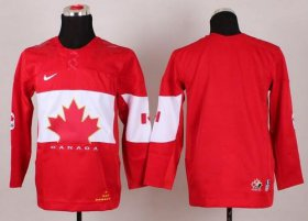 Wholesale Cheap Team Canada 2014 Olympic Blank Red Stitched Youth NHL Jersey