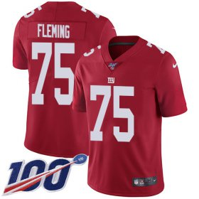 Wholesale Cheap Nike Giants #75 Cameron Fleming Red Alternate Men\'s Stitched NFL 100th Season Vapor Untouchable Limited Jersey