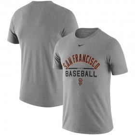 Wholesale Cheap San Francisco Giants Nike Away Practice T-Shirt Heathered Gray