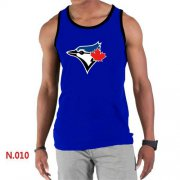 Wholesale Men's Nike Toronto Blue Jays Sideline Legend Authentic Logo Tank Top Blue