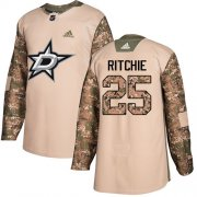 Wholesale Cheap Adidas Stars #25 Brett Ritchie Camo Authentic 2017 Veterans Day Stitched NHL Jersey