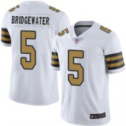 Wholesale Cheap Nike Saints #5 Teddy Bridgewater White Youth Stitched NFL Limited Rush Jersey
