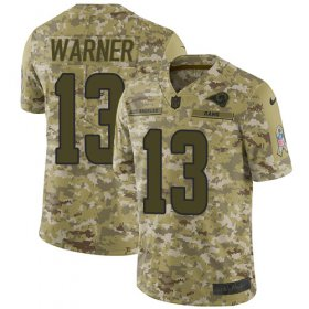 Wholesale Cheap Nike Rams #13 Kurt Warner Camo Men\'s Stitched NFL Limited 2018 Salute To Service Jersey