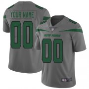 Wholesale Cheap Nike New York Jets Customized Gray Men's Stitched NFL Limited Inverted Legend Jersey