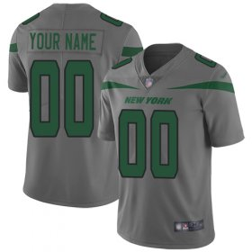 Wholesale Cheap Nike New York Jets Customized Gray Men\'s Stitched NFL Limited Inverted Legend Jersey