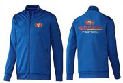 Wholesale Cheap NFL San Francisco 49ers Victory Jacket Blue_2
