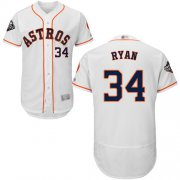Wholesale Cheap Astros #34 Nolan Ryan White Flexbase Authentic Collection 2019 World Series Bound Stitched MLB Jersey