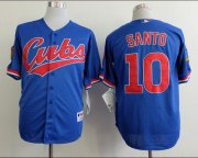 Wholesale Cubs #10 Ron Santo Blue 1994 Turn Back The Clock Stitched Baseball Jersey