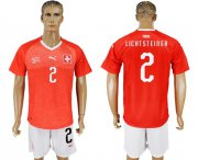 Wholesale Cheap Switzerland #2 Lichtsteiner Red Home Soccer Country Jersey