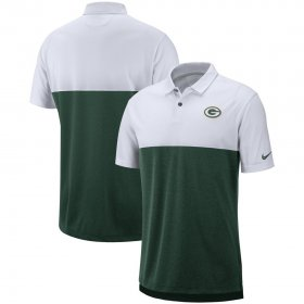 Wholesale Cheap Green Bay Packers Nike Sideline Early Season Performance Polo White Green