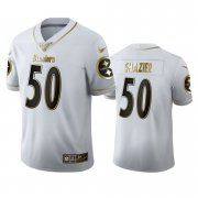 Wholesale Cheap Pittsburgh Steelers #50 Ryan Shazier Men's Nike White Golden Edition Vapor Limited NFL 100 Jersey