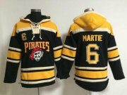 Wholesale Cheap Pirates #6 Starling Marte Black Sawyer Hooded Sweatshirt MLB Hoodie