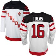 Wholesale Cheap Olympic CA. #16 Jonathan Toews White 100th Anniversary Stitched NHL Jersey