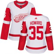 Wholesale Cheap Adidas Red Wings #35 Jimmy Howard White Road Authentic Women's Stitched NHL Jersey