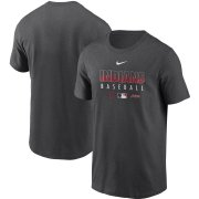 Wholesale Cheap Men's Cleveland Indians Nike Charcoal Authentic Collection Team Performance T-Shirt