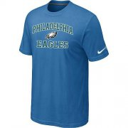 Wholesale Cheap Nike NFL Philadelphia Eagles Heart & Soul NFL T-Shirt Indigo Blue