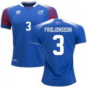 Wholesale Cheap Iceland #3 Fridjonsson Home Soccer Country Jersey