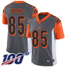 Wholesale Cheap Nike Bengals #85 Tee Higgins Silver Men\'s Stitched NFL Limited Inverted Legend 100th Season Jersey
