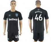 Wholesale Cheap West Ham United #46 Makasi Away Soccer Club Jersey