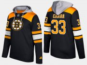 Wholesale Cheap Bruins #33 Zdeno Chara Black Name And Number Hoodie