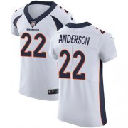 Wholesale Cheap Nike Broncos #22 C.J. Anderson White Men's Stitched NFL Vapor Untouchable Elite Jersey