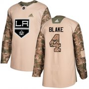 Wholesale Cheap Adidas Kings #4 Rob Blake Camo Authentic 2017 Veterans Day Stitched NHL Jersey