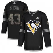 Wholesale Cheap Adidas Penguins #43 Conor Sheary Black Authentic Classic Stitched NHL Jersey