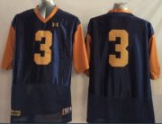 Wholesale Cheap Notre Dame Fighting Irish #3 Joe Montana 2014 Blue With Yellow Jersey