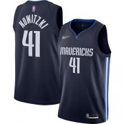 Wholesale Cheap Mavericks #41 Dirk Nowitzki Navy Basketball Swingman Statement Edition 2019-2020 Jersey