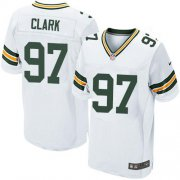 Wholesale Cheap Nike Packers #97 Kenny Clark White Men's Stitched NFL Elite Jersey