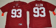 Wholesale Cheap Men's Alabama Crimson Tide #93 Jonathan Allen Red Limited Stitched College Football Nike NCAA Jersey