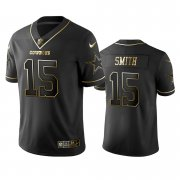Wholesale Cheap Nike Cowboys #15 Devin Smith Black Golden Limited Edition Stitched NFL Jersey