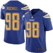 Wholesale Cheap Nike Chargers #98 Isaac Rochell Electric Blue Men's Stitched NFL Limited Rush Jersey
