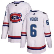 Wholesale Cheap Adidas Canadiens #6 Shea Weber White Authentic 2017 100 Classic Stitched NHL Jersey