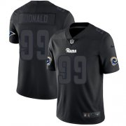 Wholesale Cheap Nike Rams #99 Aaron Donald Black Men's Stitched NFL Limited Rush Impact Jersey