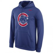 Wholesale Cheap Chicago Cubs Nike Logo Performance Pullover Royal MLB Hoodie