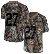 Wholesale Cheap Nike Browns #27 Kareem Hunt Camo Men's Stitched NFL Limited Rush Realtree Jersey